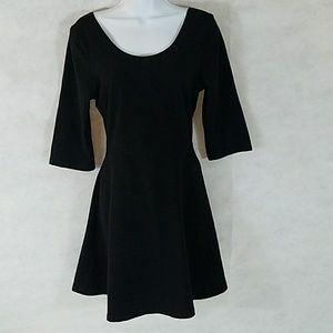 Little black dress by Express cotton fit and flare